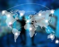 Conexão do mundo Fotografia de Stock Royalty Free