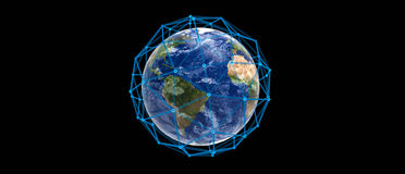 Conexão do planeta da terra Fotos de Stock
