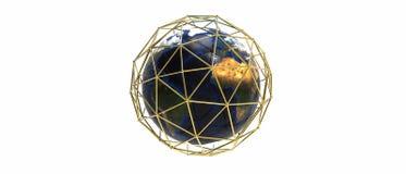 Conexão do planeta da terra Foto de Stock