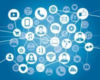 Conexão dos povos de computador Imagem de Stock