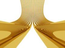 Conexão dourada Foto de Stock