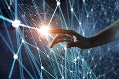 Conexão e interação Meios mistos Fotografia de Stock Royalty Free