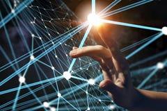 Conexão e interação Meios mistos Imagens de Stock