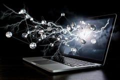 Conexão e trabalhos em rede sociais Meios mistos Imagens de Stock