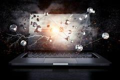 Conexão e trabalhos em rede sociais Meios mistos Imagens de Stock Royalty Free