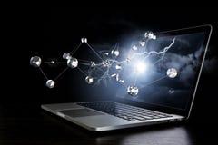 Conexão e trabalhos em rede sociais Meios mistos Imagem de Stock
