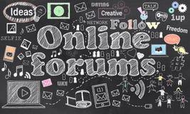 Conexão em fóruns em linha ilustração stock