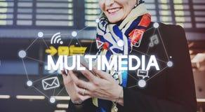 Conexão global Co da tecnologia das comunicações dos trabalhos em rede sociais fotos de stock