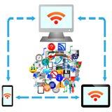 Conexão a internet 25.04.13 Imagem de Stock Royalty Free