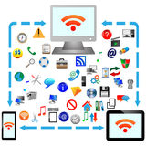 Conexão a internet 25.04.13 Imagem de Stock