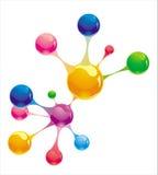Conexão molecular Imagens de Stock Royalty Free