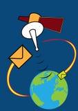 Conexão satélite Ilustração do Vetor