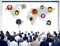 Conexão social Conce dos trabalhos em rede dos povos globais do mundo da comunidade imagem de stock