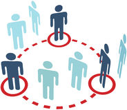 Conexão social do círculo da rede dos povos do membro Fotos de Stock Royalty Free