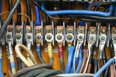 Conexão terminal elétrica de alta tensão Imagem de Stock