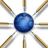 Conexões Imagem de Stock