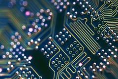Conexões da placa de circuito Imagens de Stock