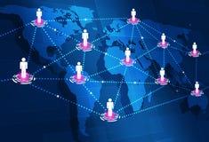 Conexões da Web do mundo Fotos de Stock