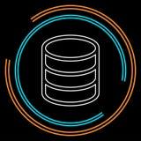 Conexões de banco de dados do servidor, armazenamento alternativo ilustração stock