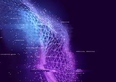 Conexões de dados abstratas ilustração do vetor