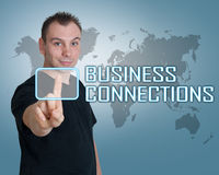 Conexões de negócio Fotografia de Stock Royalty Free