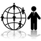 Conexões de negócio global Fotos de Stock
