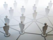 Conexões de rede dos povos ilustração royalty free