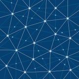 Conexões de rede mínimas modernas abstratas de Digitas, projeto criativo do fundo da tecnologia Imagem de Stock