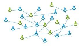 Conexões de rede sociais Foto de Stock