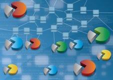 Conexões do computador de secretária do Internet Imagens de Stock