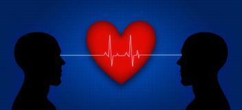Coração e mente ilustração royalty free
