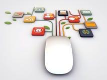 Conexões do rato Fotografia de Stock Royalty Free