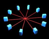 Conexões do server do Internet ilustração royalty free