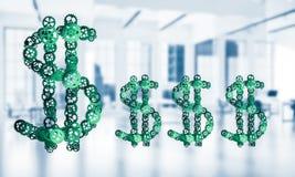 Conexões e conceitos dos trabalhos em rede como meios do salário do dinheiro sobre Fotos de Stock