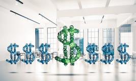 Conexões e conceitos dos trabalhos em rede como meios do salário do dinheiro sobre Imagem de Stock