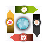 Conexões e negócio do mundo infographic Fotos de Stock