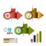 Conexões e negócio do mundo infographic Imagens de Stock