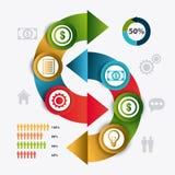 Conexões e negócio do mundo infographic Imagens de Stock Royalty Free