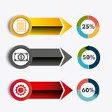 Conexões e negócio do mundo infographic Foto de Stock