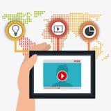 Conexões e negócio do mundo infographic Fotos de Stock Royalty Free