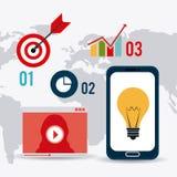 Conexões e negócio do mundo infographic Fotografia de Stock
