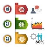 Conexões e negócio do mundo infographic Imagem de Stock Royalty Free