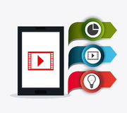 Conexões e negócio do mundo infographic Foto de Stock Royalty Free