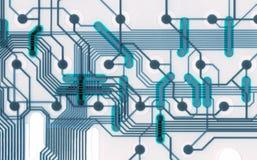 Conexões frescas da placa de circuito Imagem de Stock Royalty Free