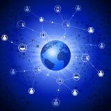 Conexões globais da Web Fotografia de Stock Royalty Free
