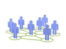 Conexões humanas. imagem 3d. Imagens de Stock Royalty Free