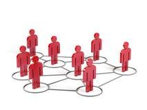 Conexões humanas. imagem 3d. Imagem de Stock
