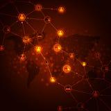 Conexões a internet Foto de Stock