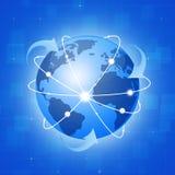 Conexões largas do globo Imagens de Stock Royalty Free