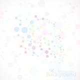 Conexión colorida de la molécula y átomo de la DNA Vector Foto de archivo libre de regalías